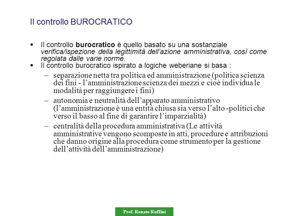 Il controllo BUROCRATICO