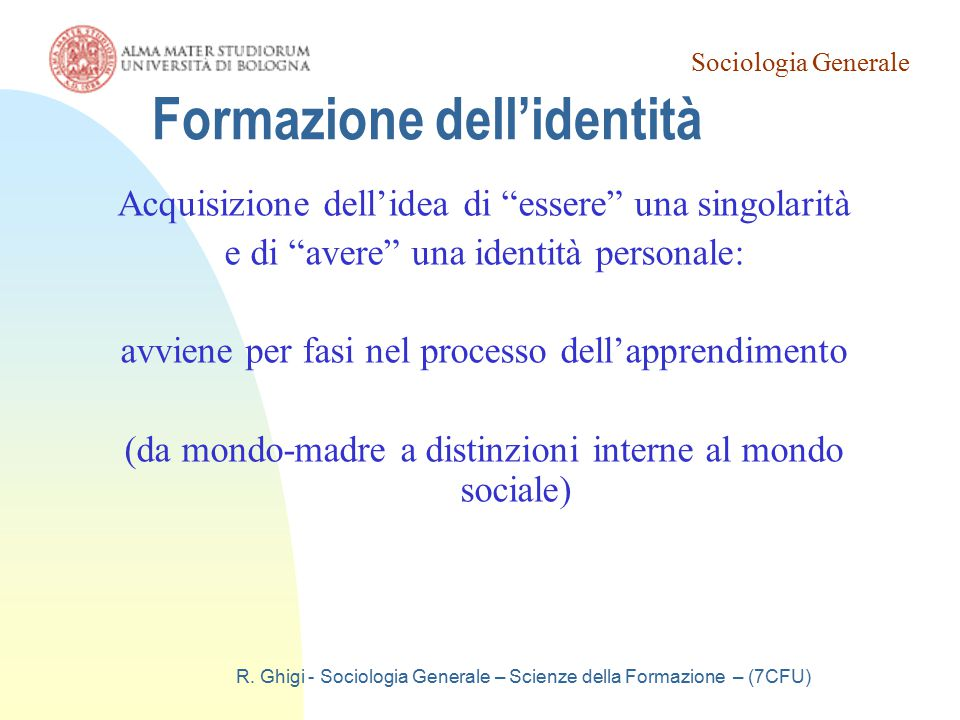 Formazione dell'identità