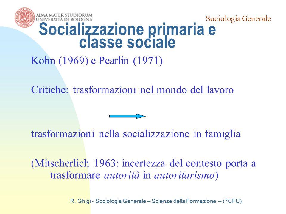 Socializzazione primaria e classe sociale
