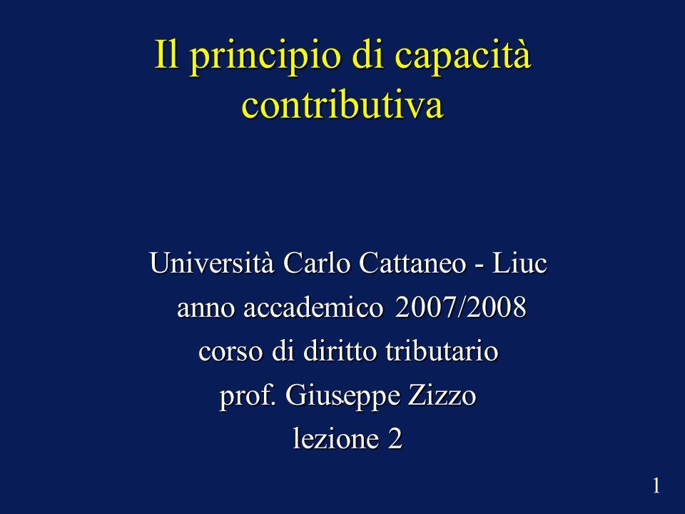 Il principio di capacità contributiva