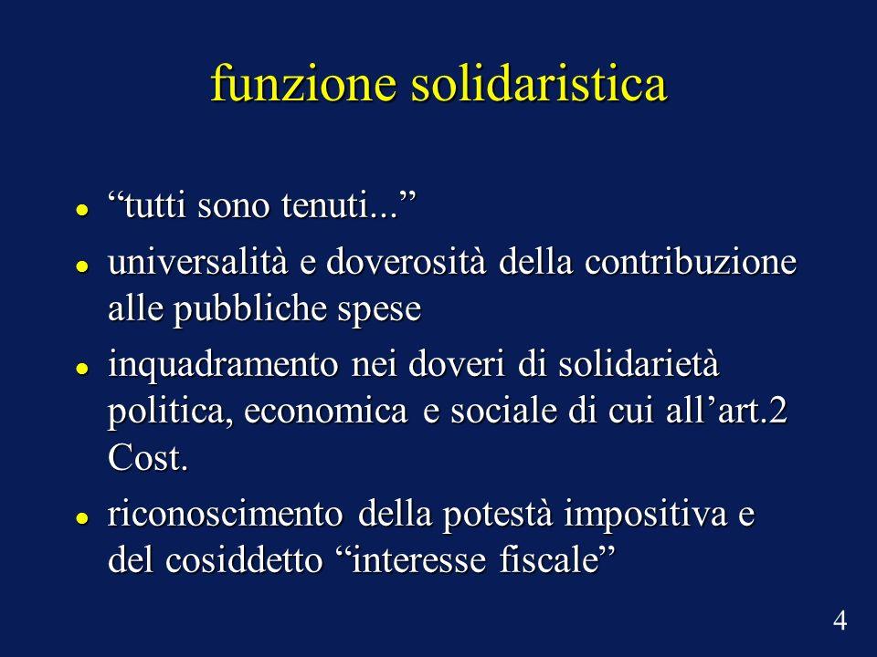 funzione solidaristica