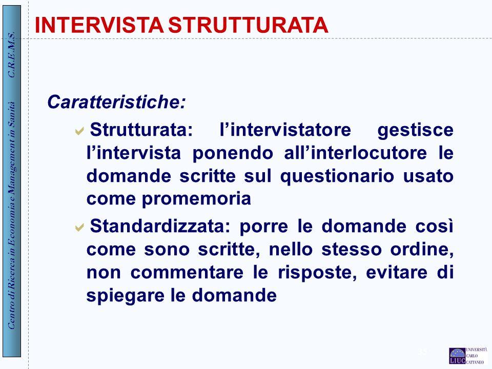 INTERVISTA STRUTTURATA