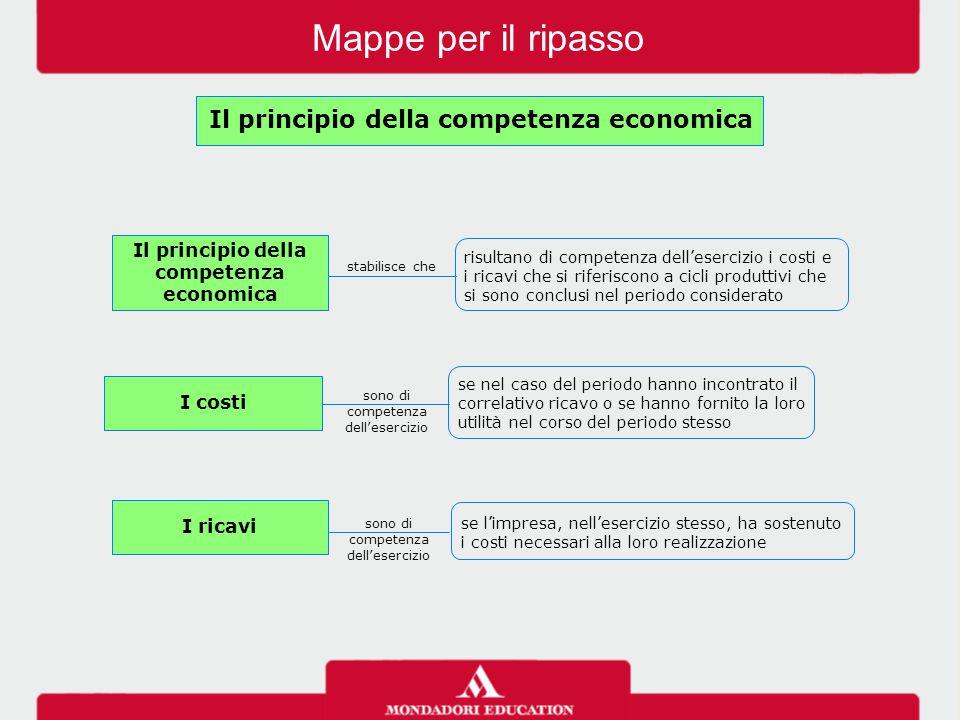 Il principio della competenza economica