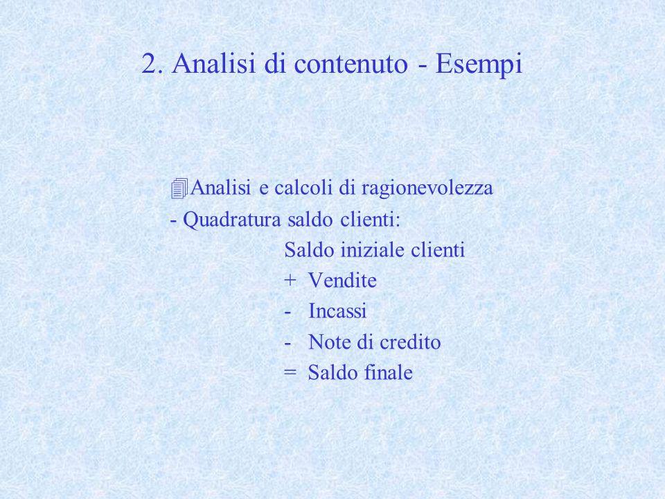 2. Analisi di contenuto - Esempi