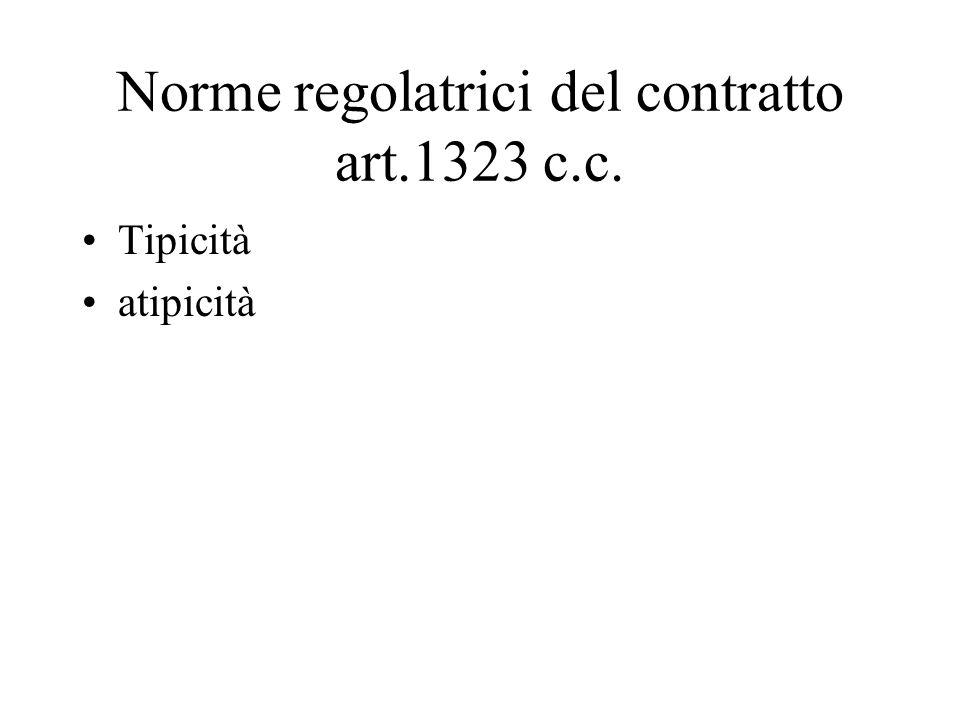 Norme regolatrici del contratto art.1323 c.c.