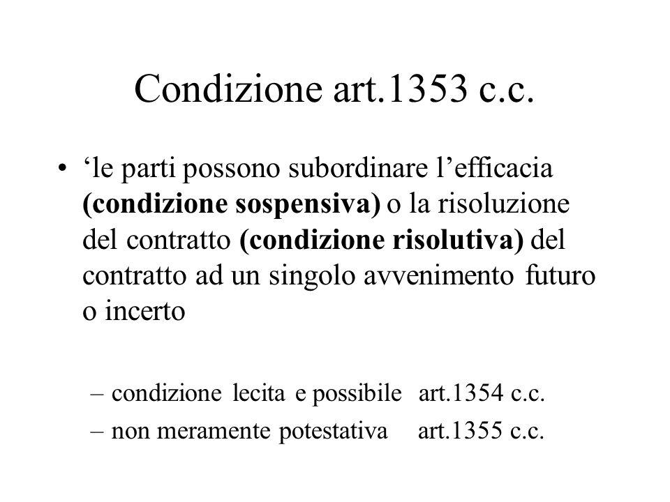 Condizione art.1353 c.c.