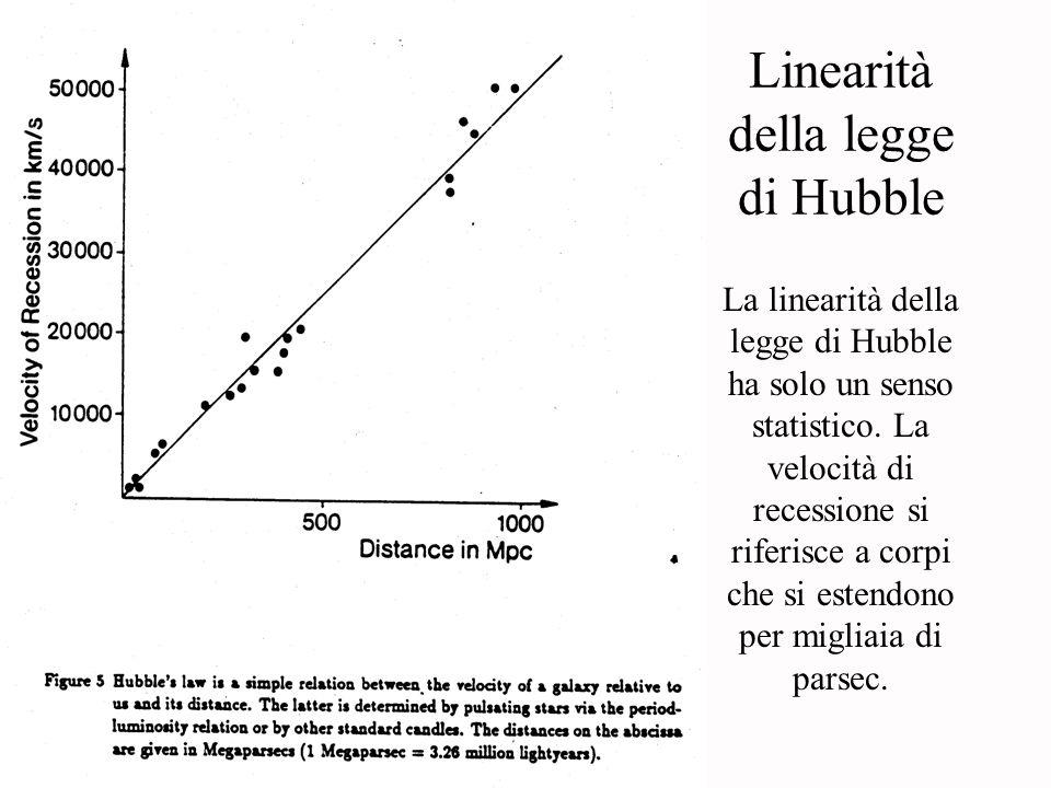 Linearità della legge di Hubble
