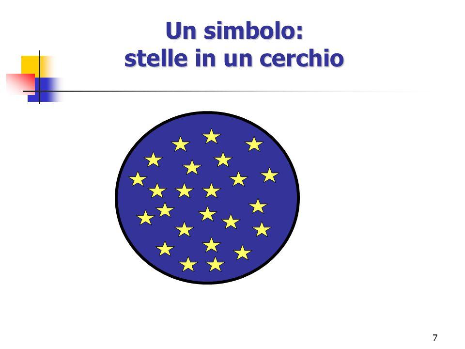 Un simbolo: stelle in un cerchio
