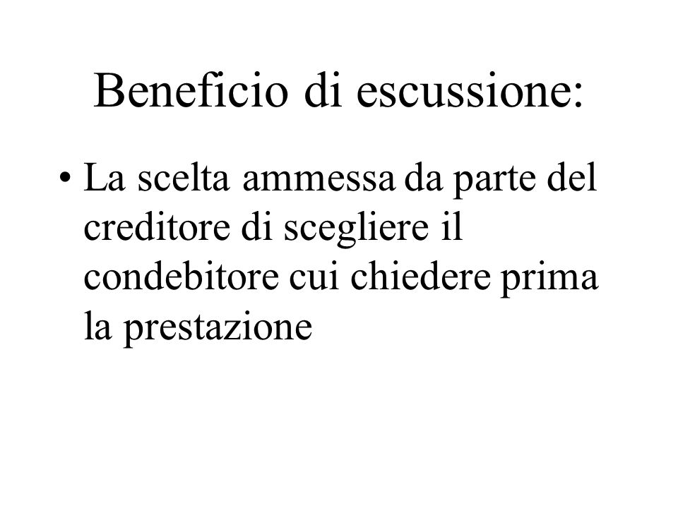 Beneficio di escussione: