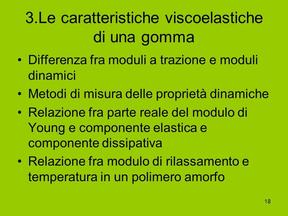 3.Le caratteristiche viscoelastiche di una gomma