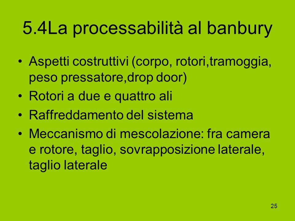 5.4La processabilità al banbury