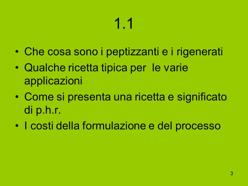 1.1 Che cosa sono i peptizzanti e i rigenerati