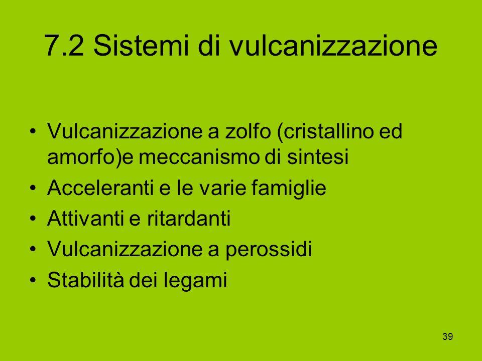 7.2 Sistemi di vulcanizzazione