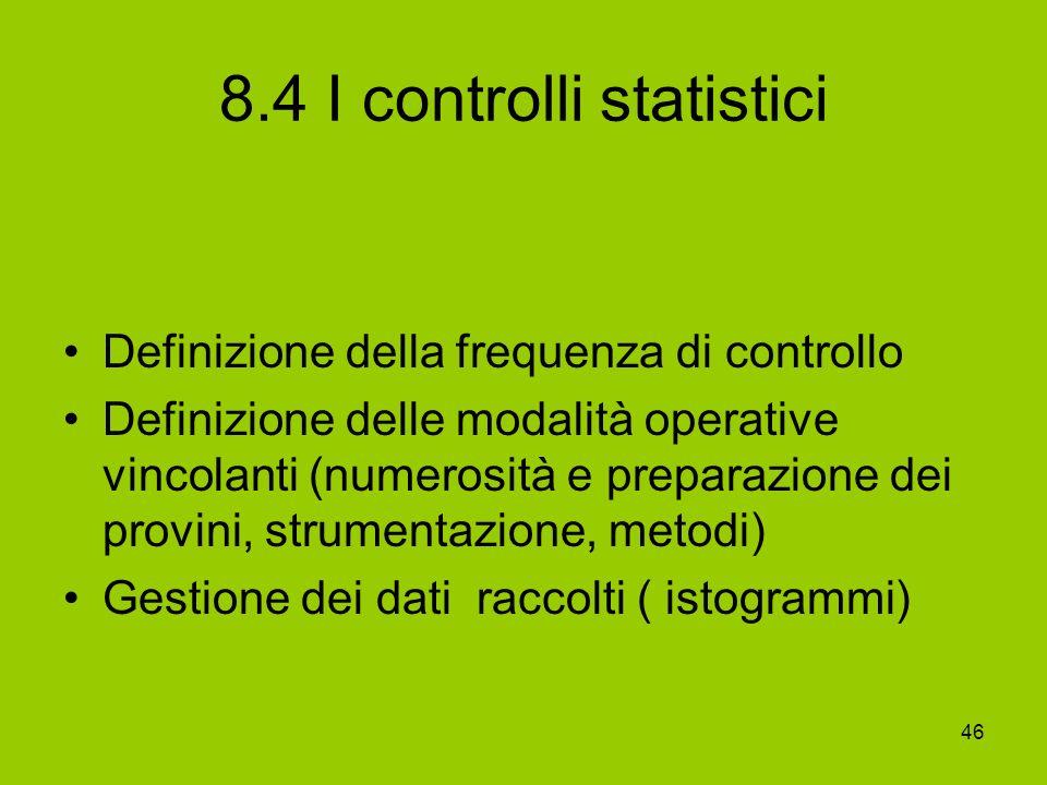 8.4 I controlli statistici