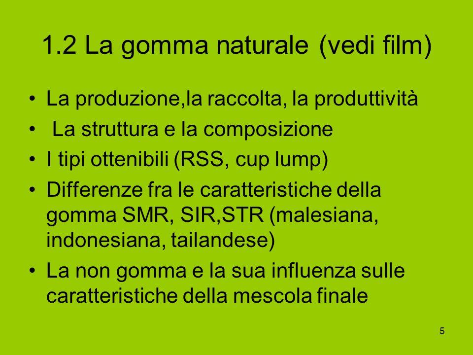 1.2 La gomma naturale (vedi film)