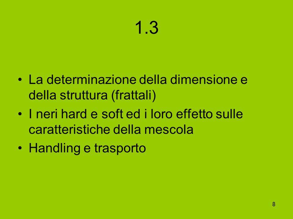 1.3 La determinazione della dimensione e della struttura (frattali)