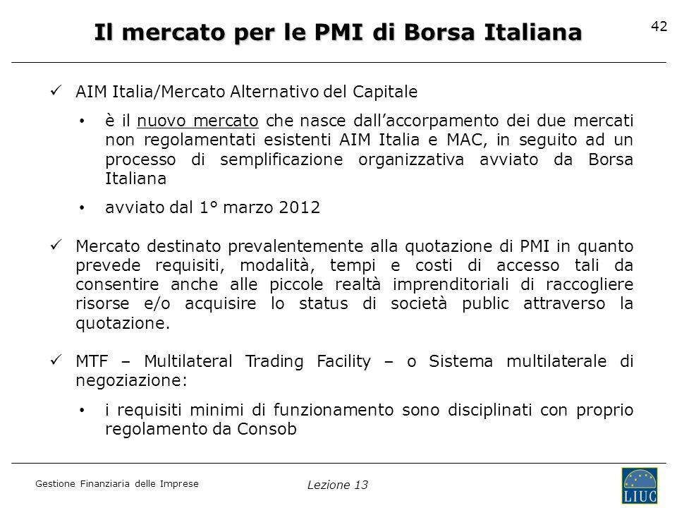 Il mercato per le PMI di Borsa Italiana