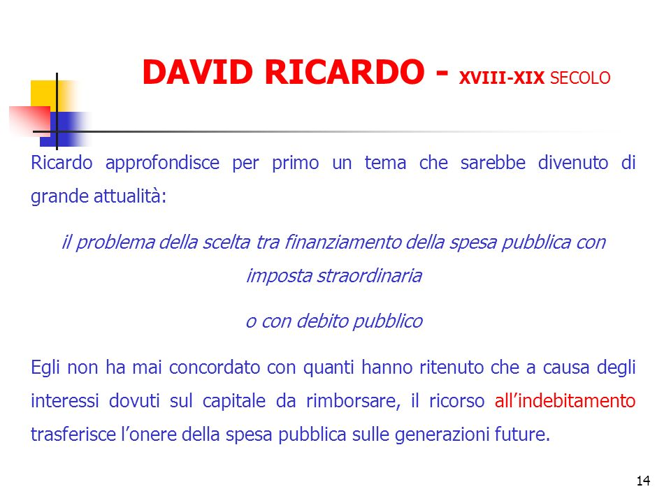 DAVID RICARDO - XVIII-XIX SECOLO