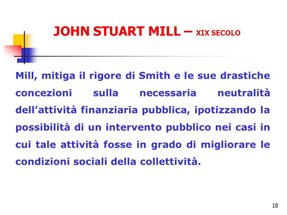 JOHN STUART MILL – XIX SECOLO
