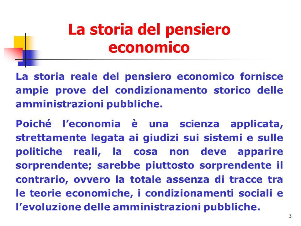 La storia del pensiero economico