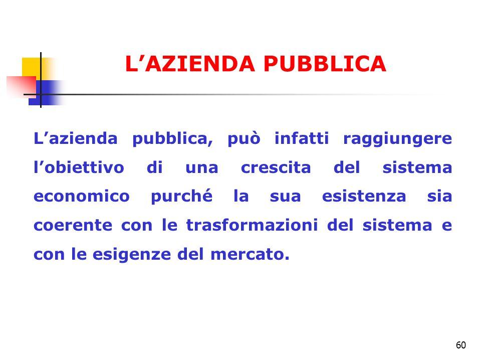 L'AZIENDA PUBBLICA