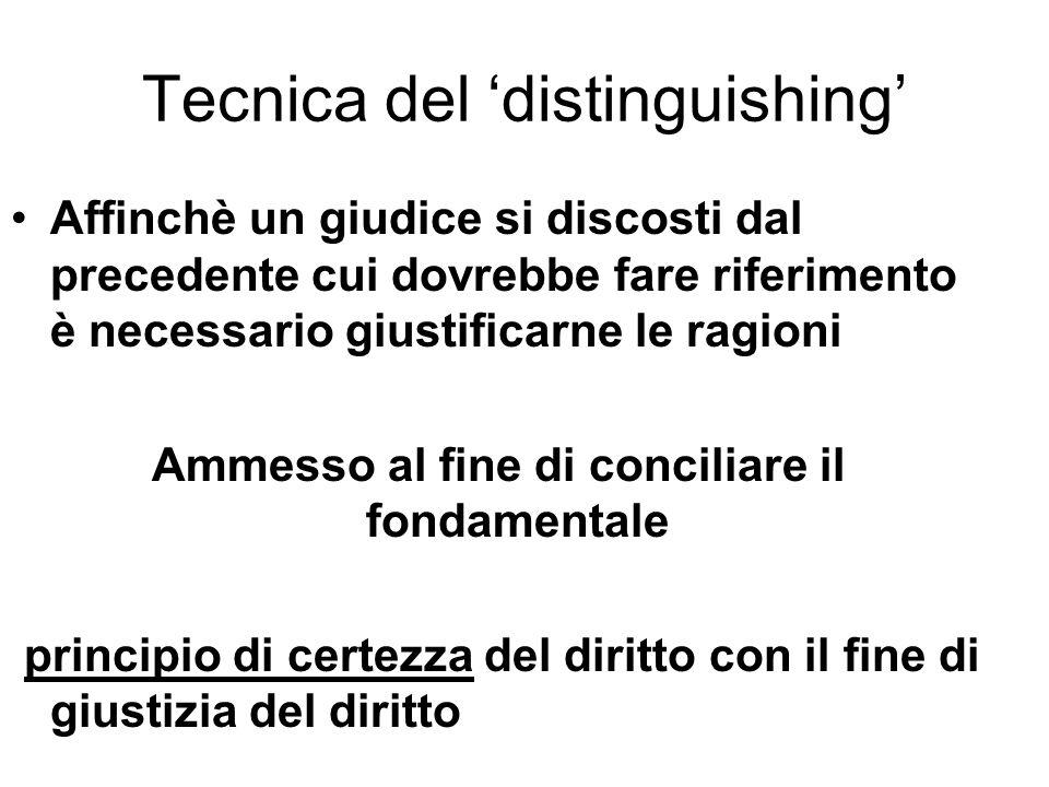 Tecnica del 'distinguishing'