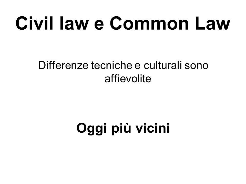 Differenze tecniche e culturali sono affievolite