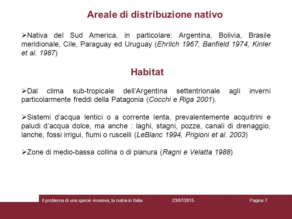 Areale di distribuzione nativo