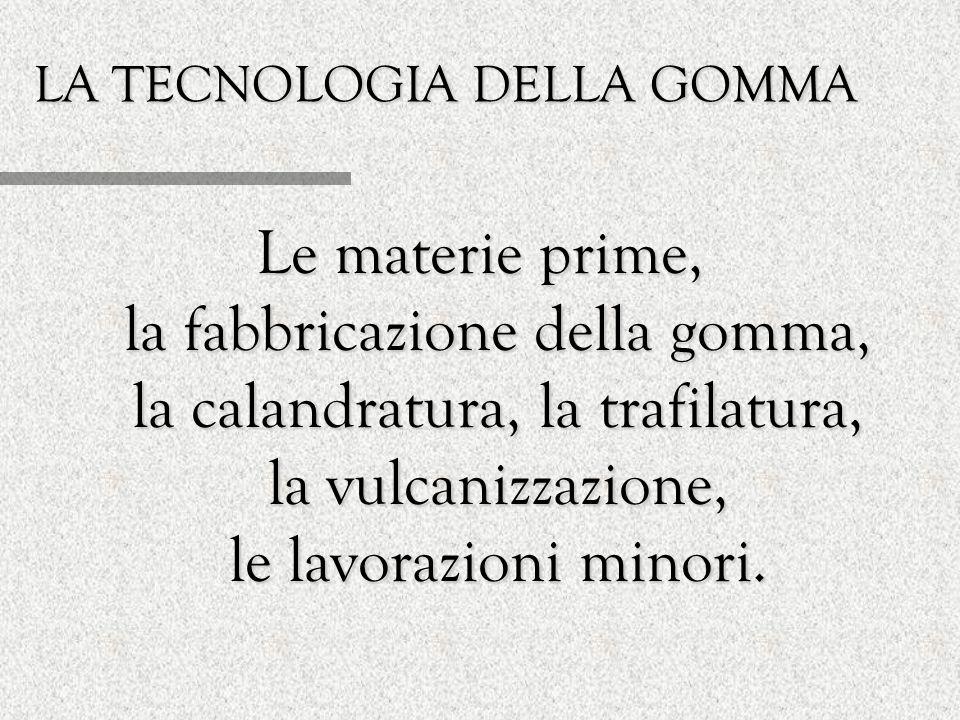 LA TECNOLOGIA DELLA GOMMA