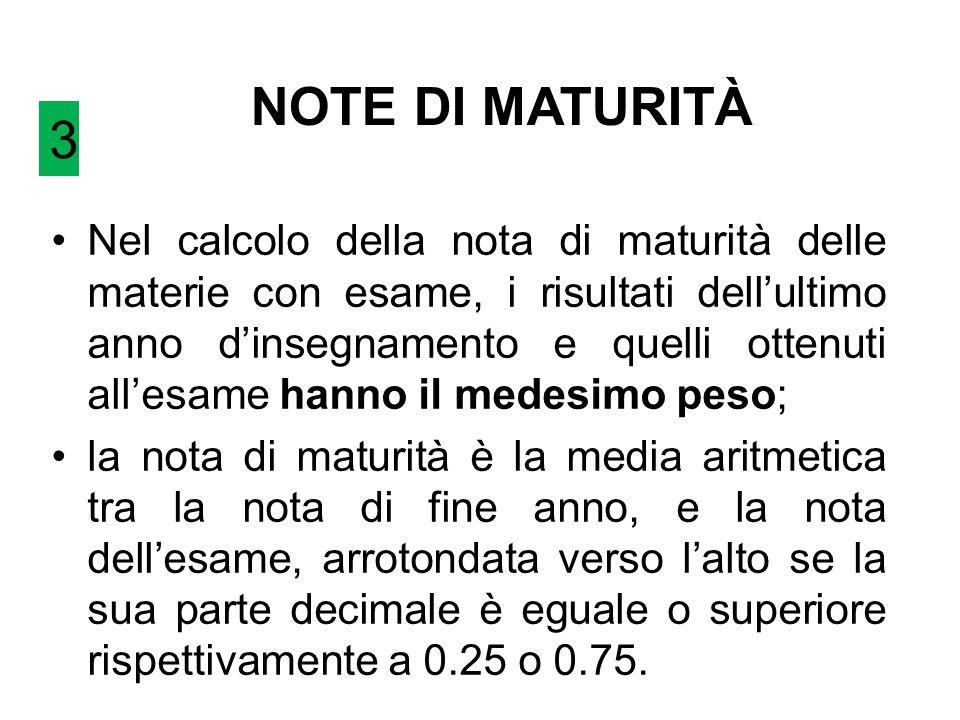 NOTE DI MATURITÀ 3.