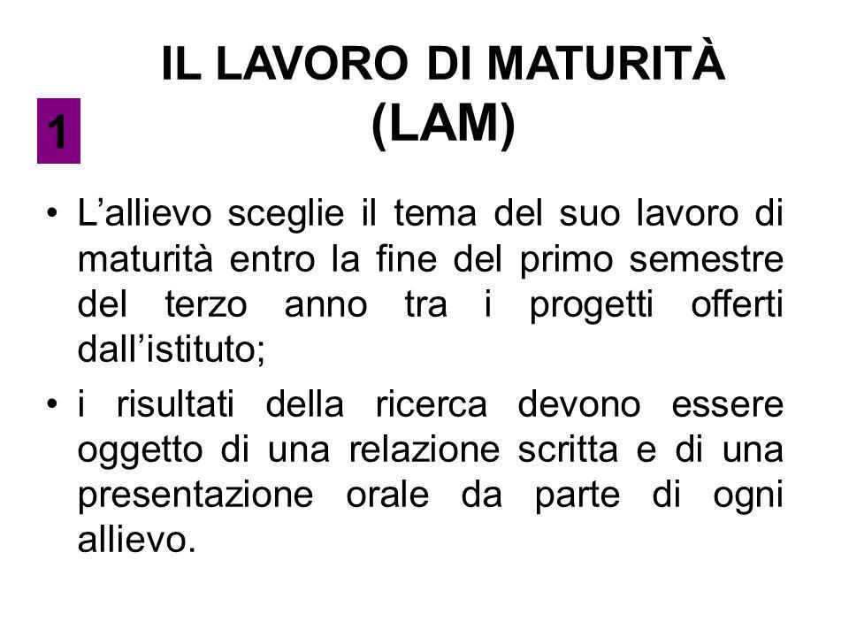 IL LAVORO DI MATURITÀ (LAM)