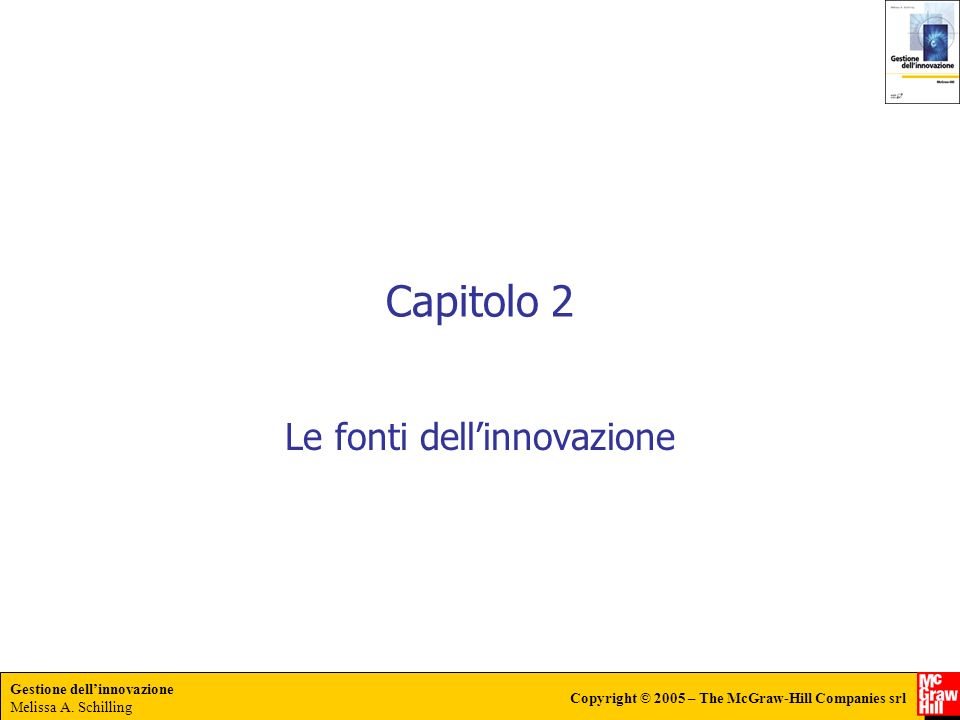 Le fonti dell'innovazione
