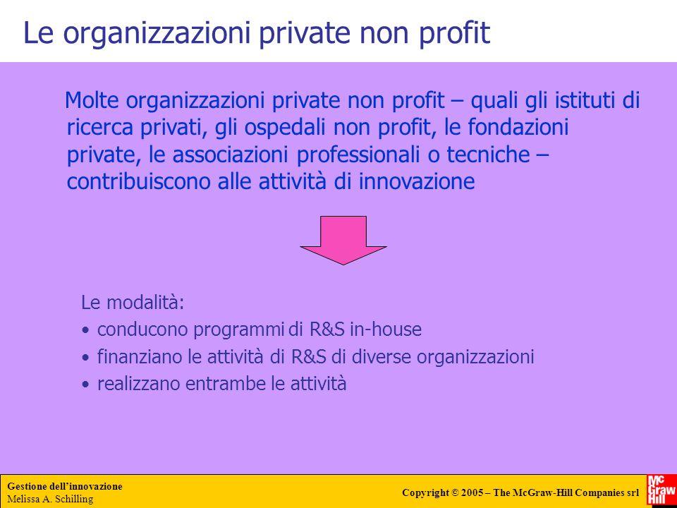 Le organizzazioni private non profit
