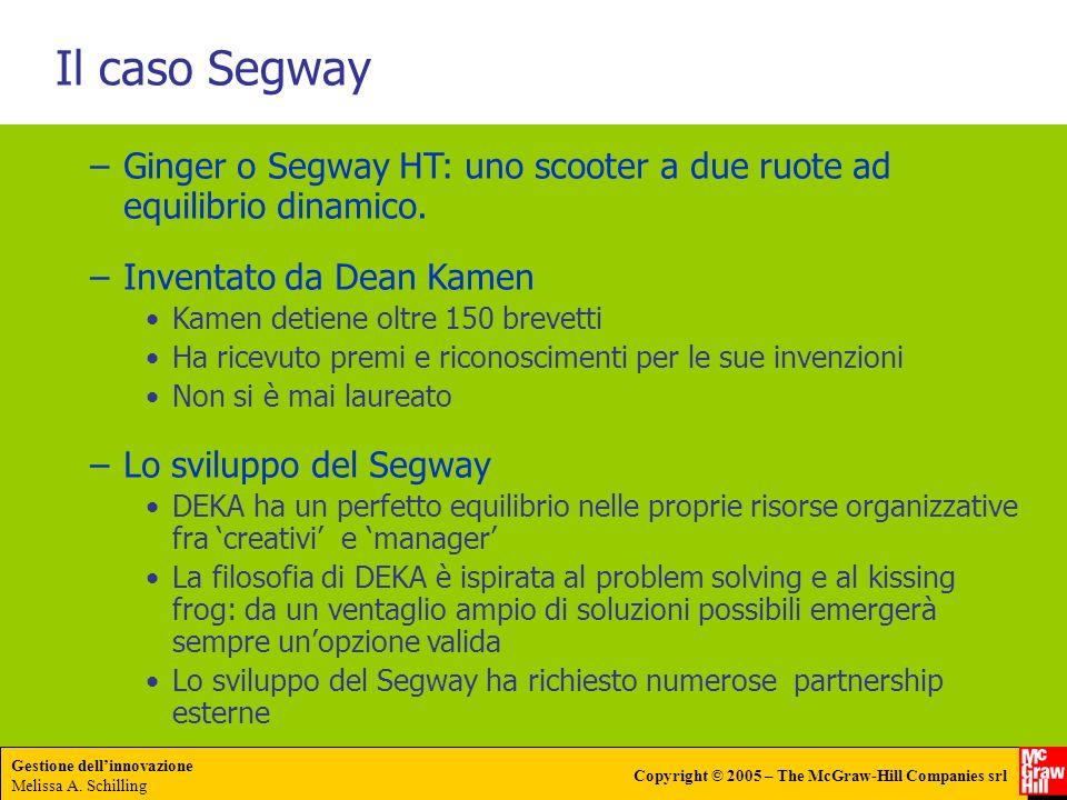 Il caso Segway Ginger o Segway HT: uno scooter a due ruote ad equilibrio dinamico. Inventato da Dean Kamen.