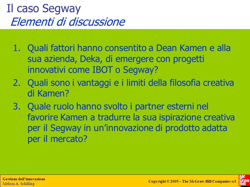 Il caso Segway Elementi di discussione