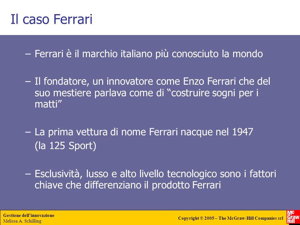 Il caso Ferrari Ferrari è il marchio italiano più conosciuto la mondo