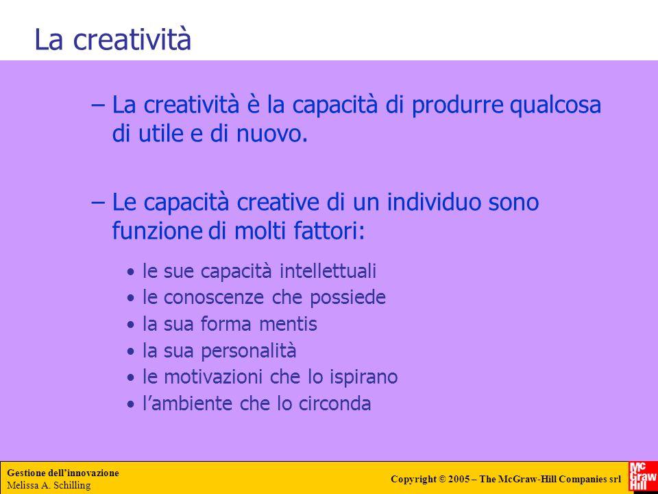 La creatività La creatività è la capacità di produrre qualcosa di utile e di nuovo.