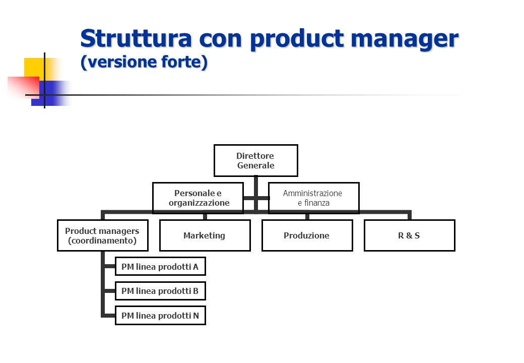 Struttura con product manager