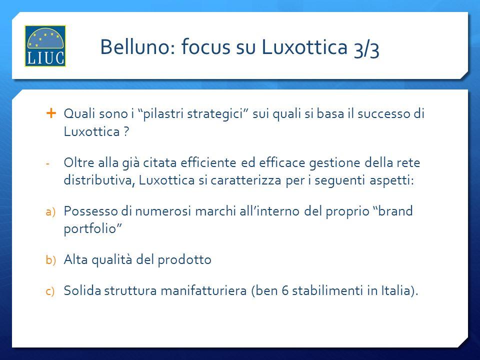 Belluno: focus su Luxottica 3/3
