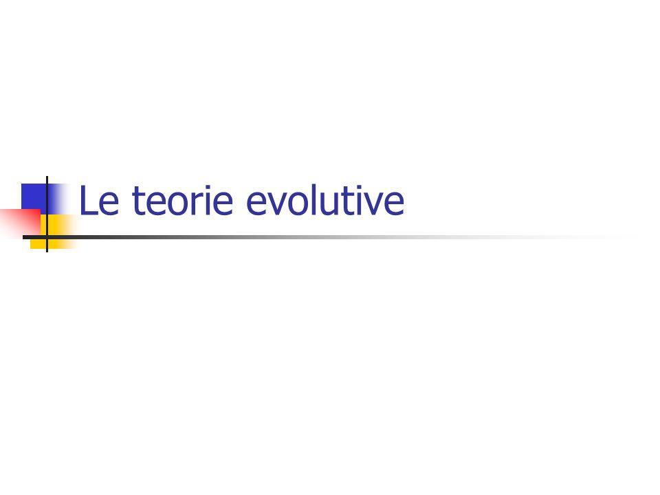 Le teorie evolutive