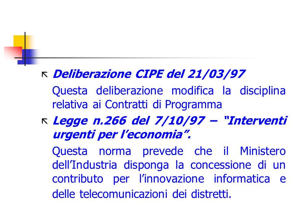 Deliberazione CIPE del 21/03/97