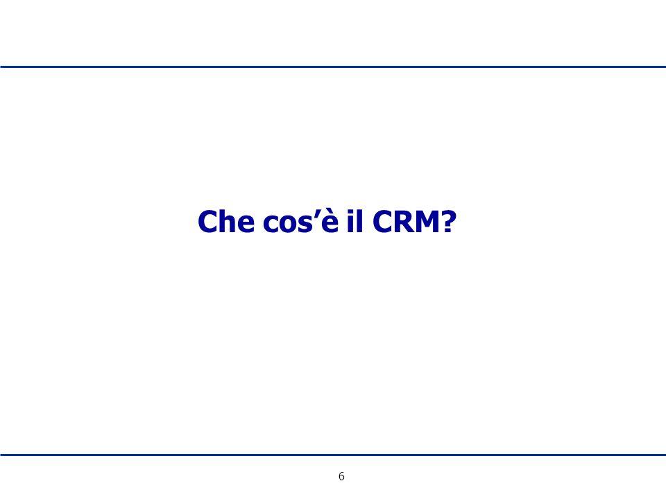 Che cos'è il CRM