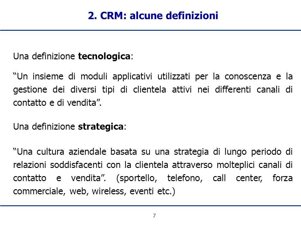2. CRM: alcune definizioni