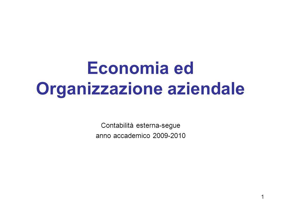 Economia ed Organizzazione aziendale