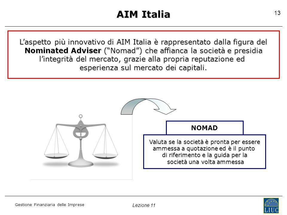AIM Italia L'aspetto più innovativo di AIM Italia è rappresentato dalla figura del. Nominated Adviser ( Nomad ) che affianca la società e presidia.