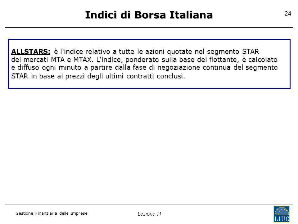 Indici di Borsa Italiana