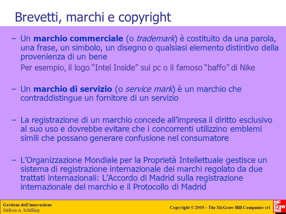 Brevetti, marchi e copyright