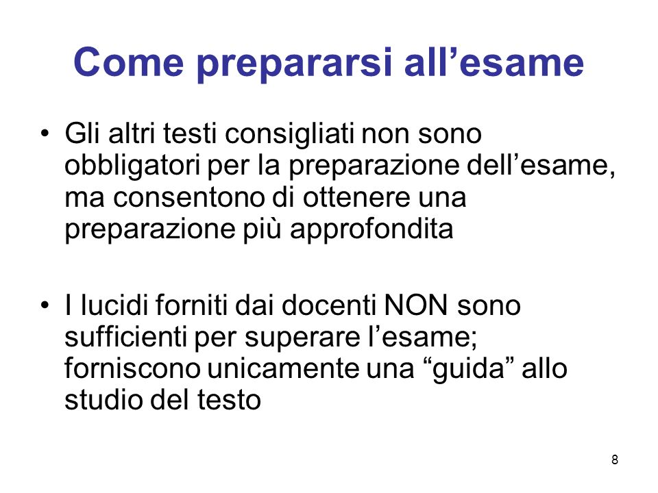 Come prepararsi all'esame