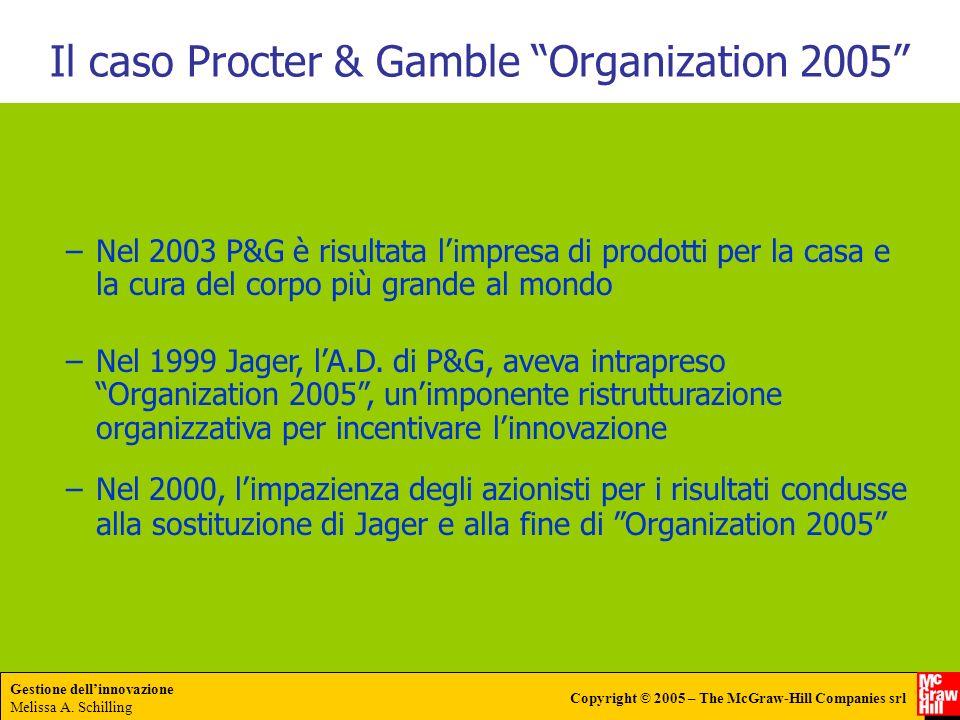 Il caso Procter & Gamble Organization 2005