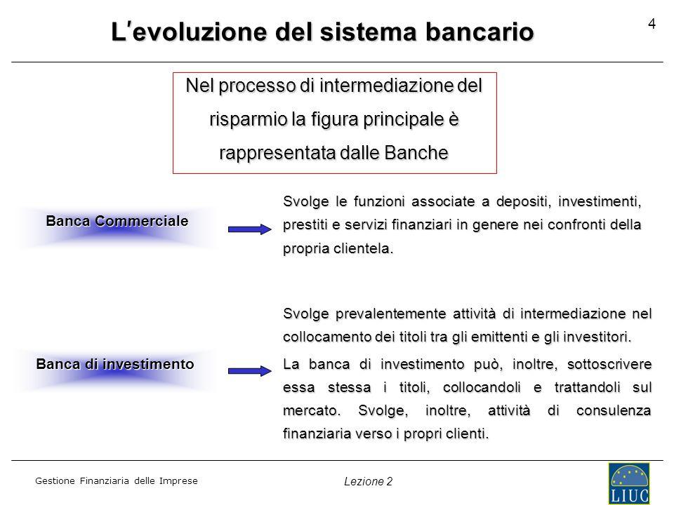 L'evoluzione del sistema bancario